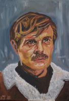 Omar Sharif Oil Painting by CharlieJacksonPaine3