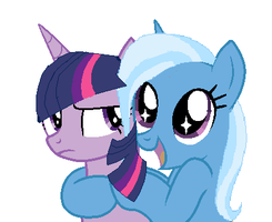 Trixie And Twilight by DurpyHooves21