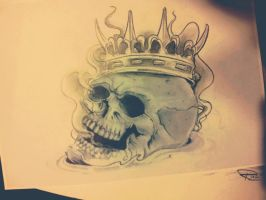skull and crown by Rickzor1983