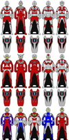 DX Ultraman Keys (FOR MAIN ULTRAS ONLY) by Zeltrax987