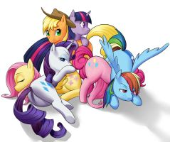 Ponypile by forgotten-wings