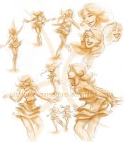 Dancing... sketches by melusineistross
