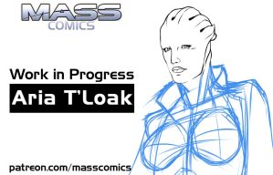 Aria T'Loak sketch by Eromaxi