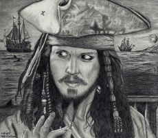 Johnny Depp -Capt Jack by Doctor-Pencil