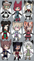 Chibi Kemonomimi Adopts 2 [OPEN] by DeerlyDame