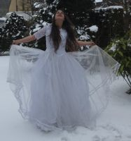 White dress in Snow Stock 8 by NaomiFan