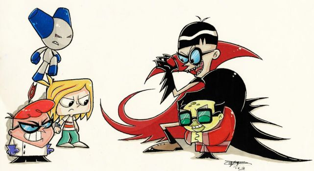 Robotboy And Dexter Crossover Battle Coloured. :3 by ShannonxNaruto