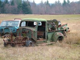 broken down truck by JensStockCollection
