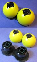 Crow T. Robot Prototype Eyes by Weirdonian