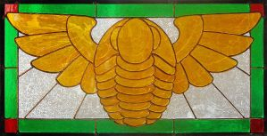 Winged Trilobite Stained Glass by bigblued