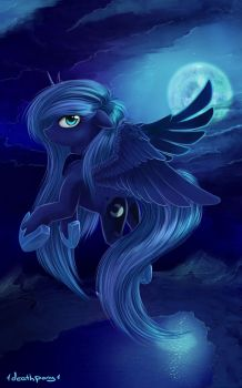 My lovely Luna by 1deathPony1