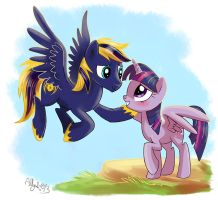 Zephyr and Twilight by Adlynh