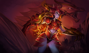 LoL: Shyvana The Half-Dragon by raspbearyart