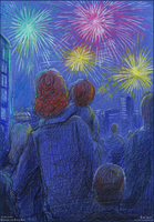 Fireworks over Fainne-Ore by Liris-san