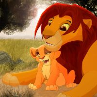 Kiara and Simba by liney