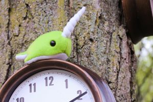 Little Lime Green Narwhal 1 by BeeZee-Art