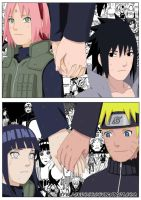 SasuSaku and NaruHina. Communication between us. by byBlackRose