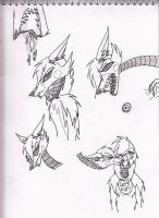 More Mangle sketches by Kitty-of-Doom524