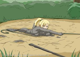 Evylen: Jungle Girl in Quicksand #8 by A-020