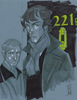 Warm Up 01, 2-13 Sherlock and Watson by Hodges-Art