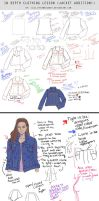 In Depth Lesson Notes - Jean Jacket diagram study by M00NBRUSH