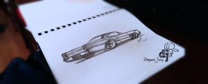 Muscle Car Sketch by D-pac007