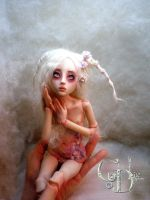 BJD ball jointed doll  Summer's Garden Bunny D by cdlitestudio