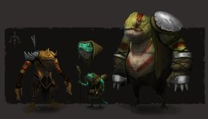 Amphibiaan Line Up by NickDeSpain