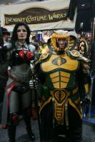 Serpentor, Skullbuster and Baroness by Hernandez-Henson