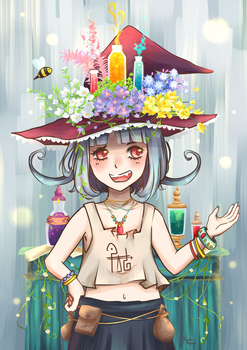 Witch of the Flower Potions by RealmSpirit