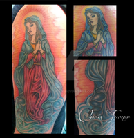 Virgin Mary Tattoo by Metacharis