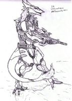 Sergal cyborg by whitewolf0272