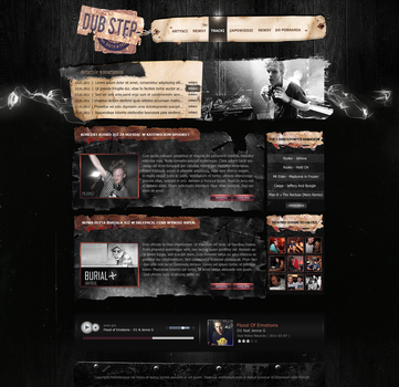 DubStep Layout by MichalKorwin