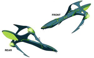 Ben 10 Alien ship design by Devilpig