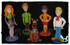 scooby doo and friend by prok-art