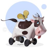tin cow by Loopydave