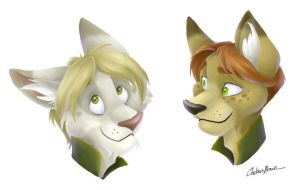 Theore and Kaid Headshots by spiritwolf77