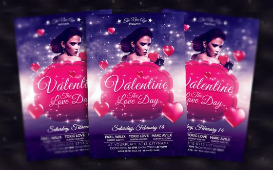 Valentine's Day - Flyer Template by bl4ckocreation