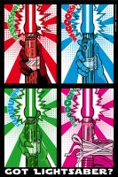 Star Wars PopArt - Lightsaber by Bergie81