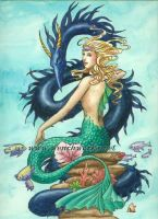 Mermaid and Dragon by Wenchworks