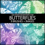 Butterflies Brushes by Leichnam