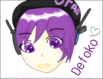 Defoko Head Shot (MS Paint) by AskAkita-Neru