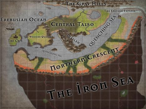 Map of Talso and the Northern Forgeland by Draco-Aroace-the-1st