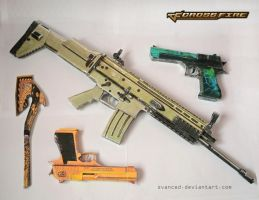 Crossfire Papercraft Weapons by svanced