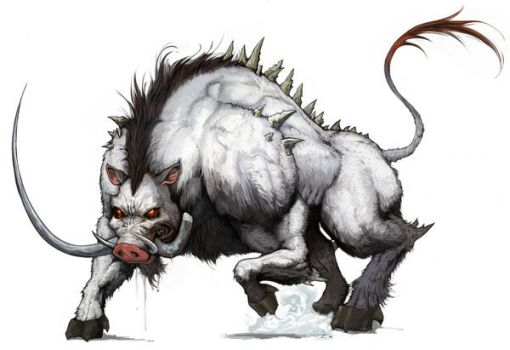 Daemon Boar - Ready to Attack by DevaShard
