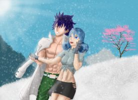 Juvia and Gray by KardoZ0