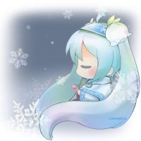 Snow Miku 2015 by chroneco