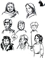 Game of Thrones sketches (1) by Alda-Rana