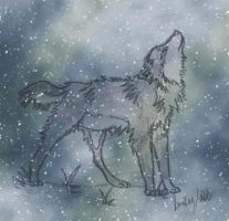 Snow wolf by Lunkay