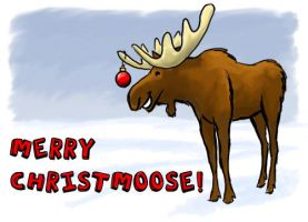 Merry Christmoose by K-B-Jones